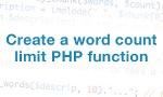 PHP metoda za ograničenje broja reči u regenici (stringu)